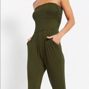 Dresses & Skirts - Strapless Ruched Jumpsuit